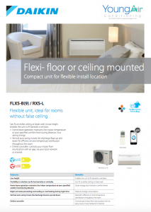 Young Air Conditioning Daikin Flxs Flexi Floor Or Ceiling