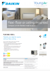 Daikin FLXS Flexi-Floor or Ceiling mounted